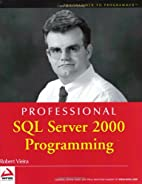 Professional SQL Server 2000 Programming by…