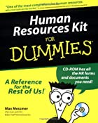 Human Resources Kit for Dummies by Max…
