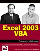 Excel 2003 VBA Programmer's Reference by…