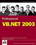 Sheldon, Bill: Professional Vb.Net 2003