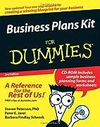 Business Plans Kit For Dummies by Steven D.…