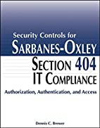 Security Controls for Sarbanes-Oxley Section…