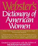Merriam-Webster Inc: Webster&#39;s Dictionary of American Women
