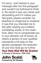 Your Hate Mail Will Be Graded: A Decade of…