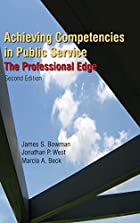 Achieving Competencies in Public Service:…