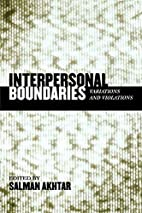 Interpersonal Boundaries: Variations and…