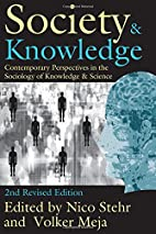 Society and Knowledge: Contemporary…