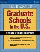 Graduate Schools in the U.S. 2006 by…