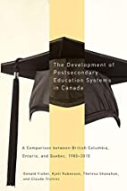 The development of postsecondary education…