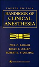 Handbook of Clinical Anesthesia by Paul G…