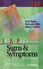 In A Page Signs & Symptoms (In a Page…