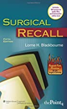 Surgical Recall (Recall Series) by Lorne H…