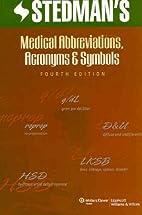 Stedman's Medical Abbreviations, Acronyms…