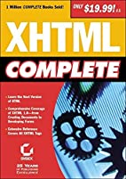 XHTML Complete by Sybex Inc.