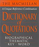 Book Sales, Inc. Staff: MacMillan Dictionary of Quotations