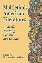 Teaching American Minority Literature:…