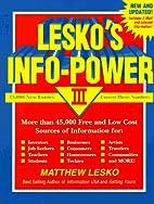 Lesko's Info-Power by Matthew Lesko