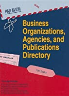 Business Organizations, Agencies, and…