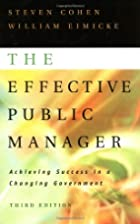 The Effective Public Manager: Achieving…