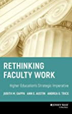 Rethinking Faculty Work: Higher Education's…