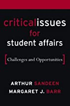 Critical Issues for Student Affairs:…