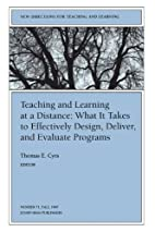 Teaching and Learning at a Distance by…