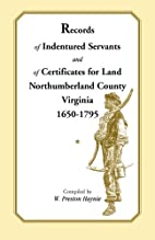 Records of indentured servants and of…