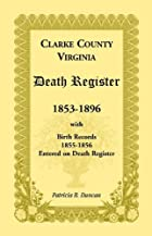 Clarke County, Virginia Death Register,…