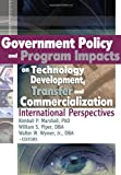 Kimball Marshall: Government Policy and Program Impacts on Technology Development, Transfer, and Commercialization: International Perspectives (Journal of Nonprofit & Public Sector Marketing)
