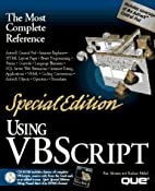 Using Vbscript (Using ... (Que)) by Ron…