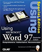 Special Editon Using Microsoft Word 97, Best…