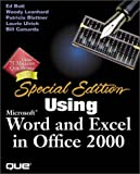 Bott, Ed: Using Microsoft Word and Excel 2000