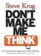 Don't Make Me Think! A Common Sense Approach…