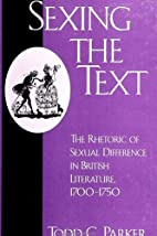 Sexing the Text: The Rhetoric of Sexual…