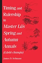 Timing and Rulership in Master Lu's…