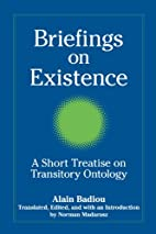 Briefings on Existence: A Short Treatise on…