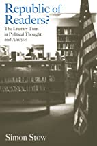 Republic of Readers: The Literary Turn in…