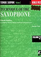 Technique of the Saxophone - Volume 2: Chord…