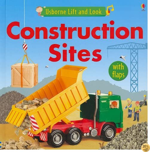 Construction Sites (Usborne Lift and Look Board Books)