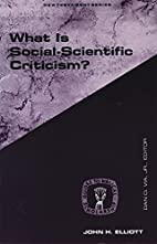 WHAT IS SOCIAL SCIENTIFIC CRITICISM? (Guides…