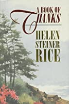 A Book of Thanks by Helen Steiner Rice