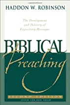 Biblical Preaching: The Development and…