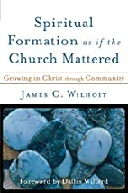 Spiritual Formation as if the Church…