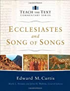 Ecclesiastes and Song of Songs (Teach the…