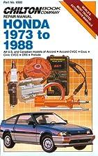 Honda 1973-88 (Part No. 6980) by The Chilton…