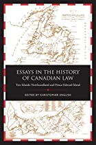 Essays in the history of Canadian law, vol.…
