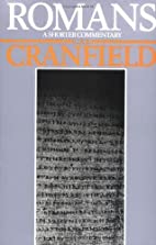 Romans by C. E. B. Cranfield