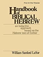 Handbook of Biblical Hebrew: An Inductive…