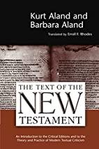 The Text of the New Testament: An…