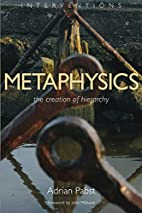 Metaphysics: The Creation of Hierarchy by…